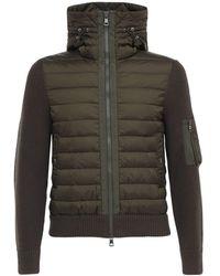 Moncler - Куртка На Пуху Из Шерстяного Трикотажа - Lyst