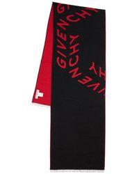 Givenchy Шарф Из Шерсти И Шелка - Красный