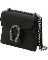 Gucci Mini Dionysus レザーショルダーバッグ - ブラック