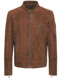 Belstaff Куртка V-racer 9.9 Из Замши - Коричневый