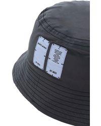McQ リフレクティブナイロンバケットハット - ブラック