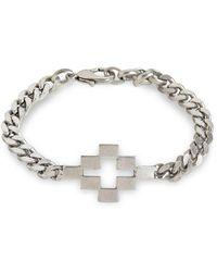 Marcelo Burlon Logo Cross Metal Bracelet - Metallic
