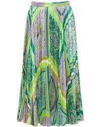 Versace Midikleid Aus Satin Mit Druck - Mehrfarbig