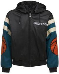 Just Don Basketball レザージャケット - ブラック