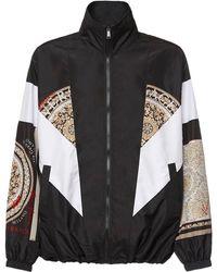 Versace Куртка С Принтом - Черный