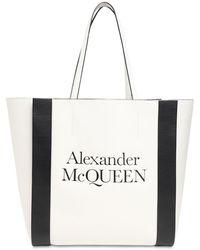 Alexander McQueen Кожаная Сумка Signature - Белый