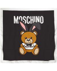 Moschino - Teddy Playboy Silk Twill Scarf - Lyst