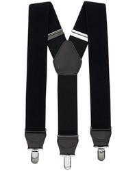 Comme des Garçons Y-type Elastic Tech Suspenders - Black