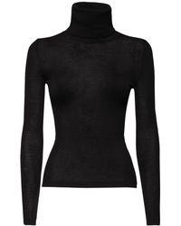 Saint Laurent Пуловер Из Смесовой Кашемировой Ткани - Черный