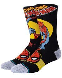Stance Spider Man Marquee Cotton Blend Socks - Multicolour