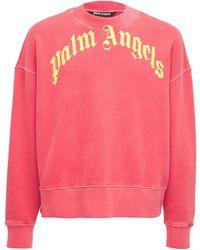 Palm Angels Sweatshirt Mit Logo - Pink