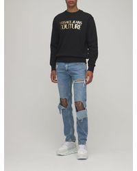 Versace Jeans Couture コットンスウェットシャツ - ブラック