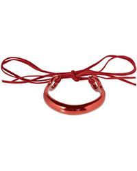 Isabel Marant Hip Colour Cuff Bracelet W/ Leather Ties - Red