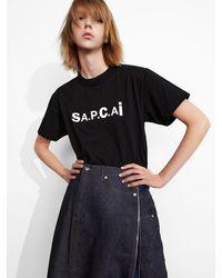A.P.C. コットンジャージーtシャツ - ブラック