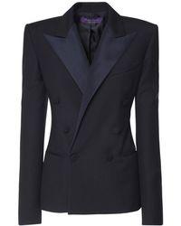 Ralph Lauren Collection ウールタキシードジャケット - ブルー