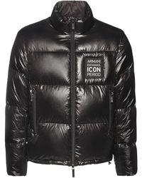 Armani Exchange Icon ダウンジャケット - ブラック