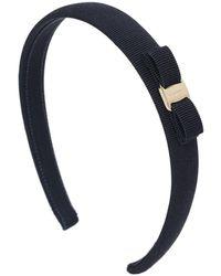 Ferragamo 2cm Vara Bow Headband - Blue