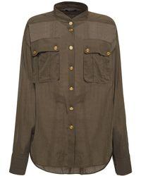 Balmain コットンシャツ - グリーン