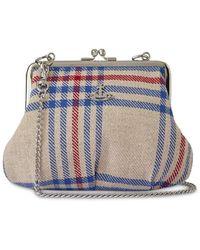Vivienne Westwood Elena Frame Recycled Tartan Purse Bag - Multicolor