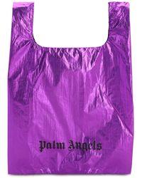 Palm Angels - メタリックナイロントートバッグ - Lyst