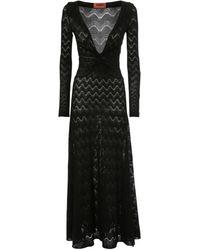 Missoni Трикотажное Платье Из Шерсти - Черный