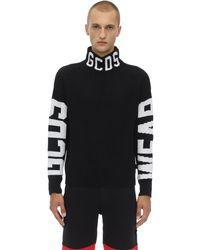 Gcds Snow ウール混セーター - ブラック