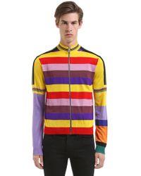 Loewe - Zip Stripes Wool Knit Cardigan - Lyst