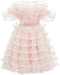 Giambattista Valli Платье Из Тюля - Розовый