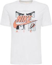 Nike - T-shirt Stampa Manga - Lyst