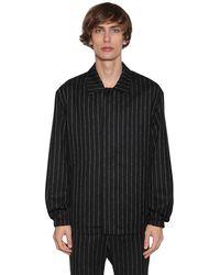 1017 ALYX 9SM Logo Pinstripe Cashmere & Wool Jacket - Черный