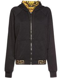 Versace Свитшот Из Хлопка И Нейлона - Черный