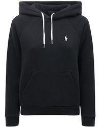 Polo Ralph Lauren Свитшот Из Джерси С Капюшоном - Черный