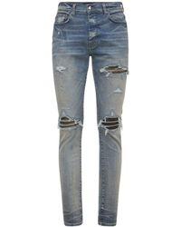 """Amiri Jeans """"mx1"""" De Denim De Algodón Camuflaje 15cm - Azul"""