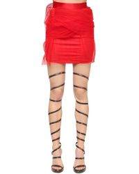 Y. Project - Draped Tulle & Satin Mini Skirt - Lyst