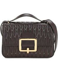 Bally Janelle Quilted Leather Bag W/studs - Black
