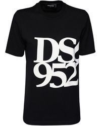 DSquared² Renny Fit Dsq 9520 ジャージーtシャツ - ブラック