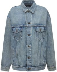 Balenciaga オーバーサイズコットンデニムジャケット - ブルー
