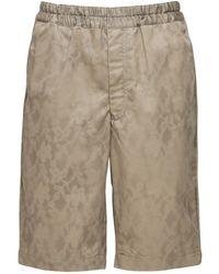 Comme des Garçons Stencil Print Cotton Twill Shorts - Многоцветный