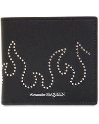 Alexander McQueen Portafoglio In Pelle Con Borchie - Nero