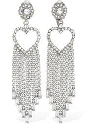 Etro Fringed Heart Crystal Clip-on Earrings - Mehrfarbig