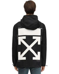 Off-White c/o Virgil Abloh Packable Printed Techno Rain Anorak - Black