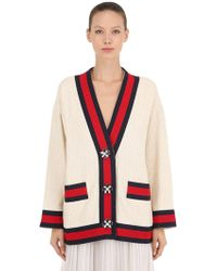 Gucci - Tweed Cardigan Jacket W/ Jewel Buttons - Lyst