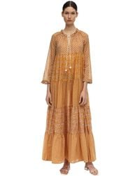 "Yvonne S Maxikleid Aus Baumwollvoile ""hippy"" - Orange"
