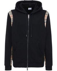 Burberry コットンジップアップスウェットシャツ - ブラック