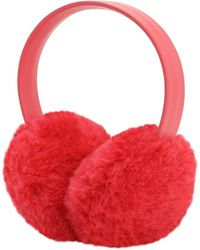 Max Mara Bice Teddy Earmuffs - Red