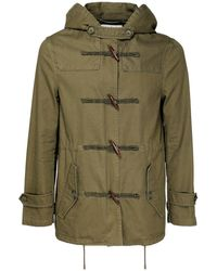 Saint Laurent Cotton Blend Gabardine Parka Coat - Многоцветный