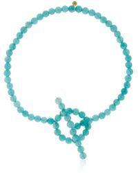 Saskia Diez - Holiday Amazonite Anklet - Lyst