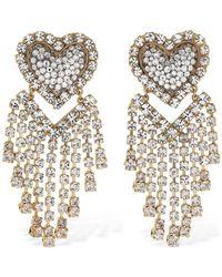 Shourouk Love You In The Galaxy Crystal Earrings - Metallic
