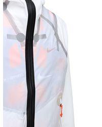 Nike Нейлоновая Куртка С Капюшоном Ispa - Белый