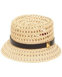 Valentino Garavani Roman Stud Woven Bucket Hat - Metallic